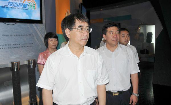 科技部副部长张来武到中国煤炭博物馆参观指导