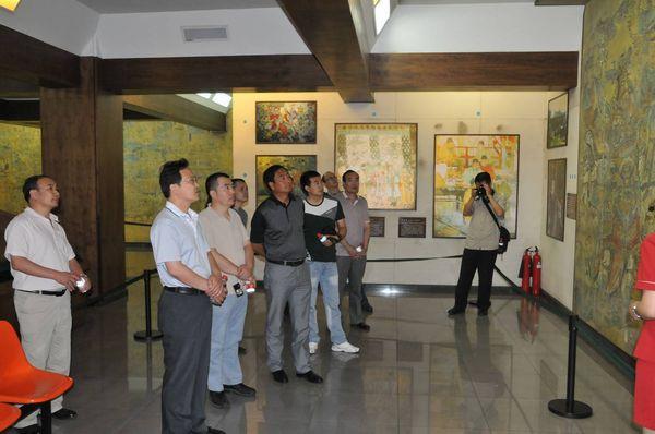 陕西自然博物馆一行来中国煤炭博物馆参观考察