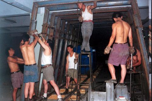 1992年6月模拟矿井建设现场
