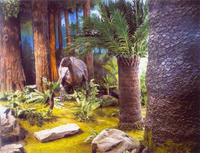 侏罗纪森林景观