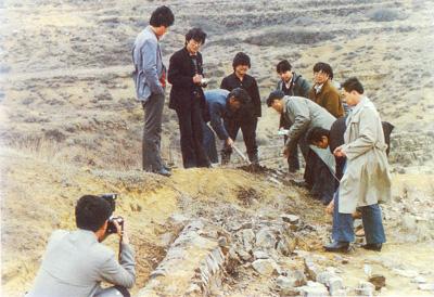 中国煤炭博物馆征集研究人员野外地质研究