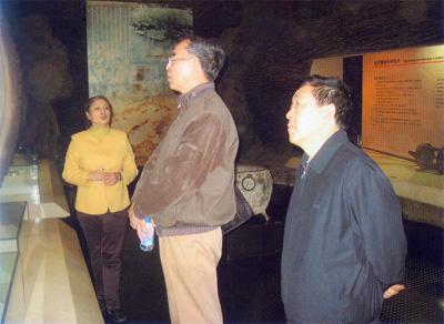 中国自然博物馆协会秘书长娄锡祜同志来我馆指导科普陈列工作