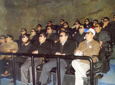 先进的四维动感影厅讲述成煤过程
