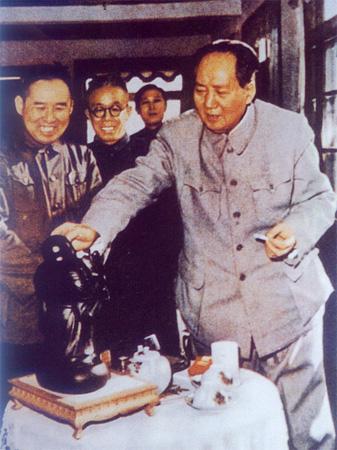 毛泽东主席视察抚顺西露天矿