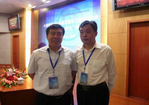 国家文物局副局长宋新潮与李希海馆长在一起