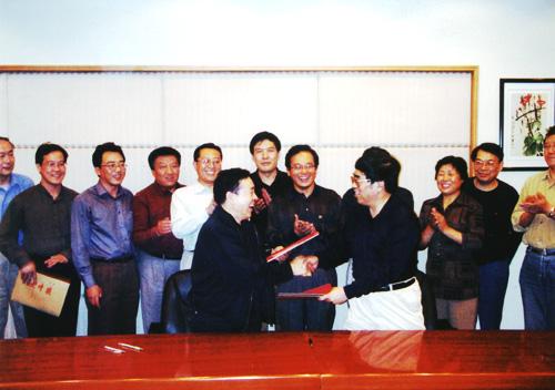 2003年9月3日,中国煤炭博物馆与太原理工大学合作办学签字仪式