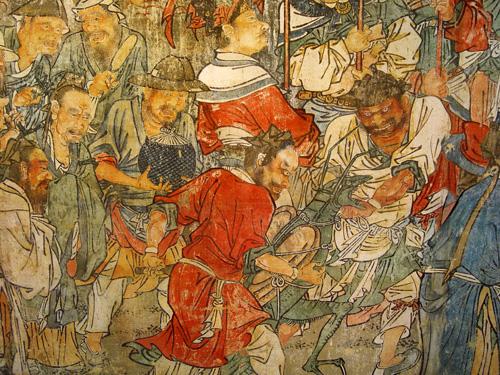 山西古代壁画——捕蝗图